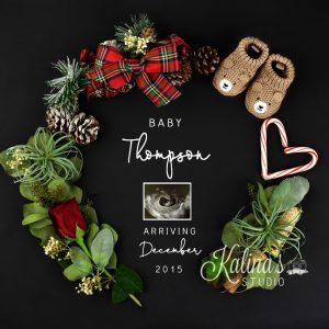 Christmas pregnancy announcement digital