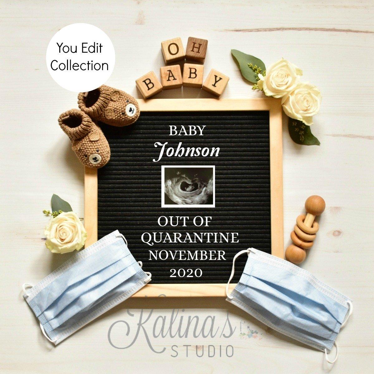 Quarantine Pregnancy Announcement 4