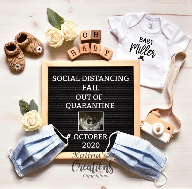 Quarantine Pregnancy Announcement 5