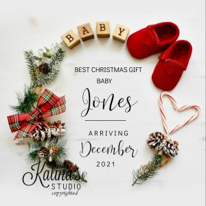 christmas digital pregnancy announcement without ultrasound