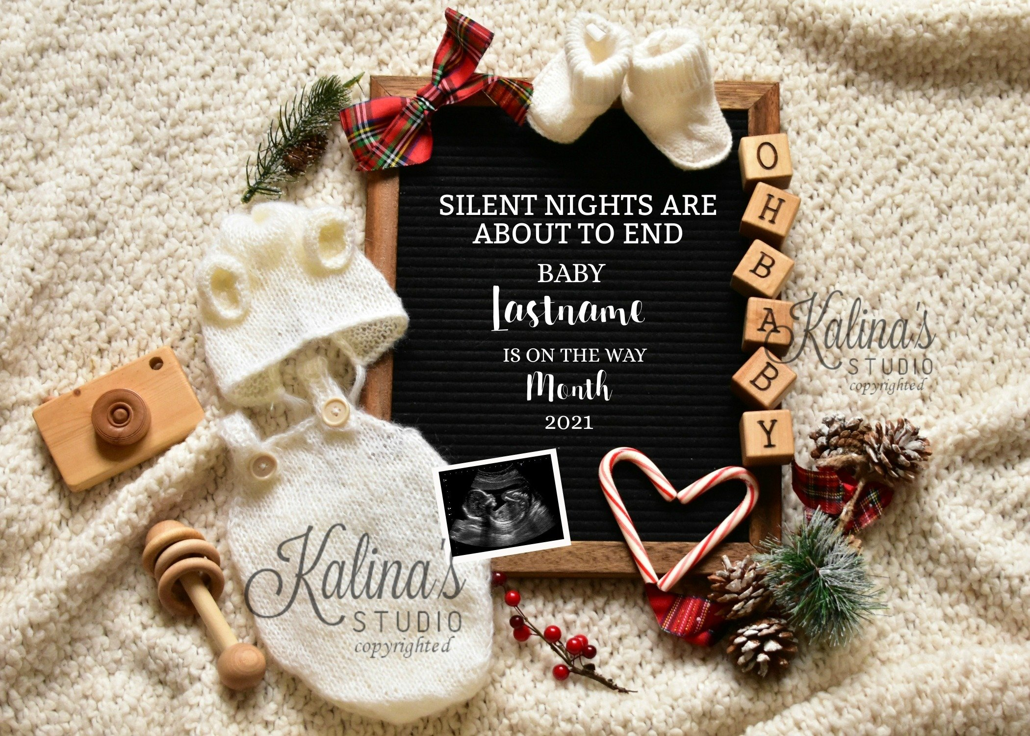 cute christmas pregnancy announcement