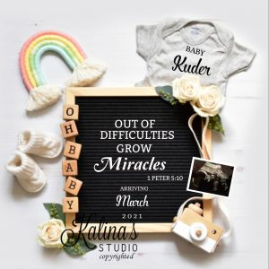 rainbow baby announcement to husband