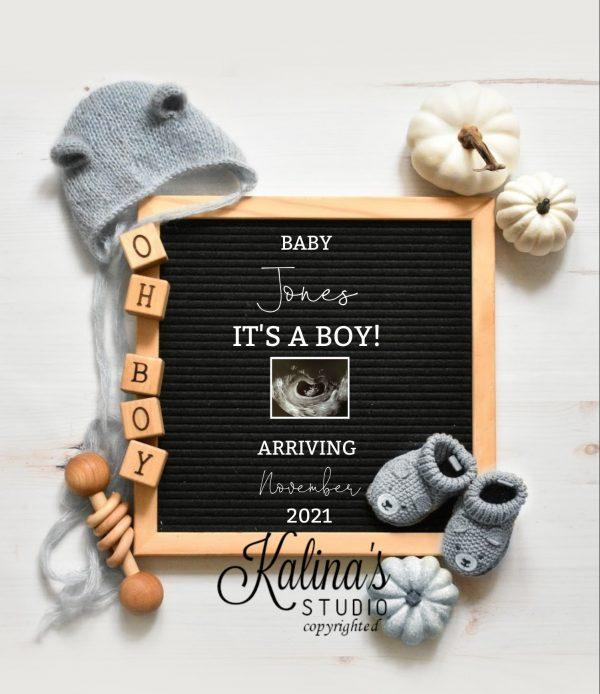 boy pumpkin gender reveal ideas and cute wording