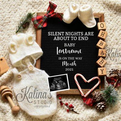 cute christmas pregnancy announcement