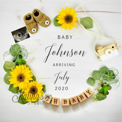 sunflowers-baby-announcement